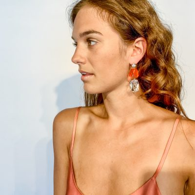 Earrings Lucite Two Color