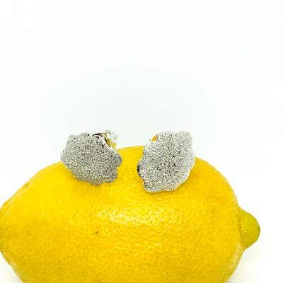 Diamond Dust Button Clip-On Earrings