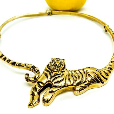 Gold Tiger Necklace