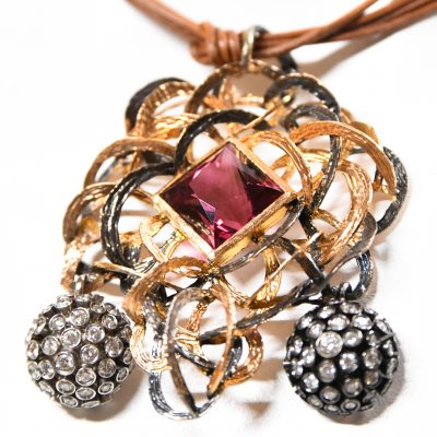 18kt Rose Gold and Rubelite Necklace