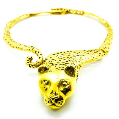 18 kt Gold Jaguar Necklace