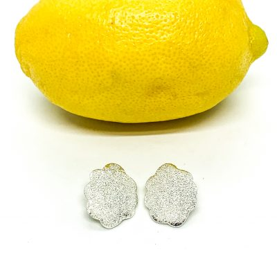 Diamond Dust Button Clip Earring