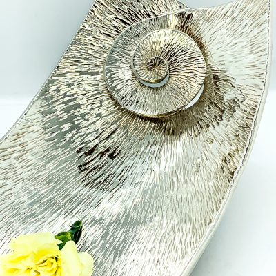 Double Swirl Curved Platter