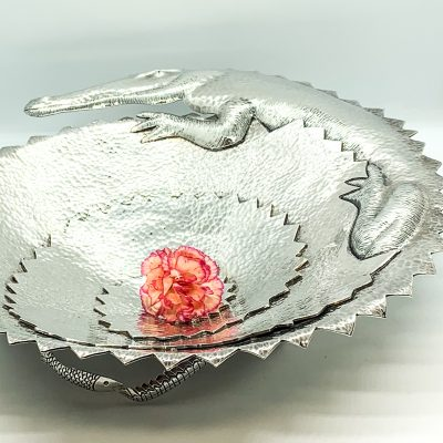 Sterling Silver Alligator Bowl