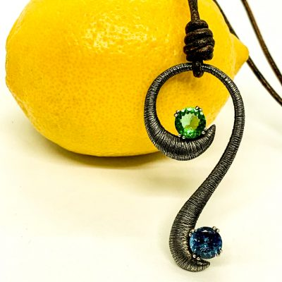 Twisted 'S' Silver Pendant