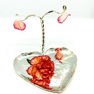 Silver Plated Heart Jewelry/Earring Tray