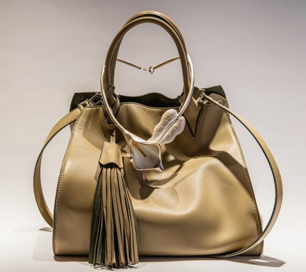 Adriana Bag in Sage - Full Bag - Italian Leather Handbag - Brenda Schoenfeld