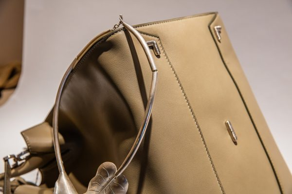 Adriana Bag in Sage with Fine Detailing - Italian Leather Handbag - Brenda Schoenfeld