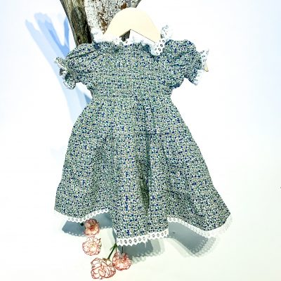 Infant Dress with Sleeves Stampato