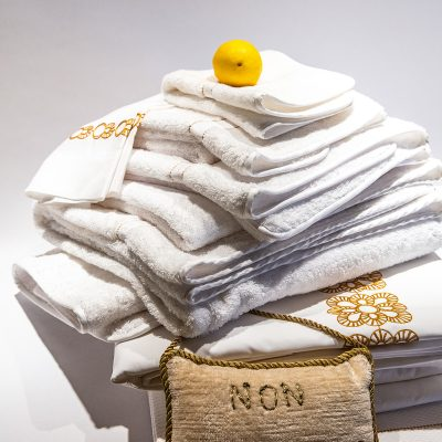 Double Hemstitch Linen Guest Towel