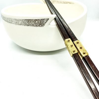 Chopsticks with Tumbaga Studs