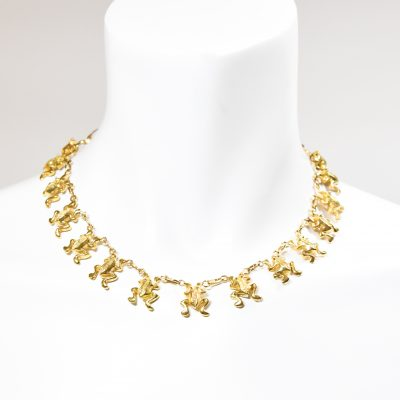 18kt. Gold Frog Necklace