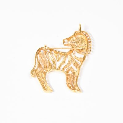 Gold Zebra Pin