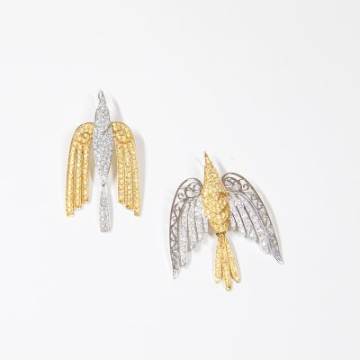 Large Bird Earrings