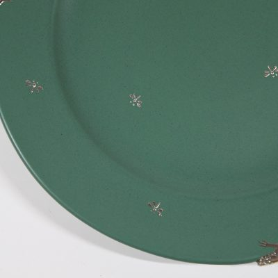 Green Plate with Lizard