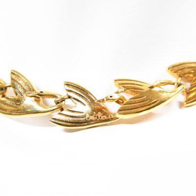 18kt Gold Swan Necklace