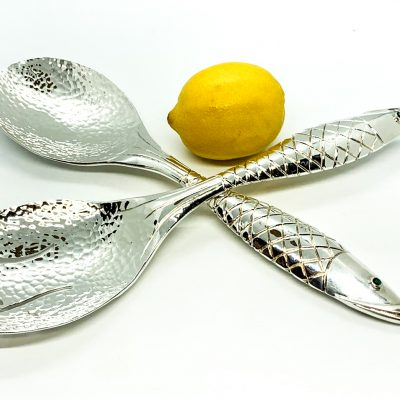 Large Fish Salad Spoon Set