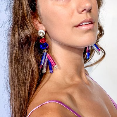 Lucite Lightning Earrings
