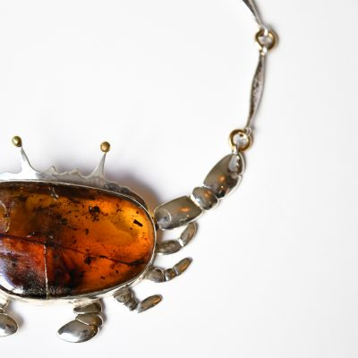 Amber Crab Necklace