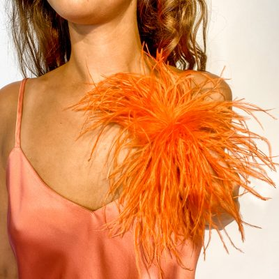 Ostrich Feather Pin