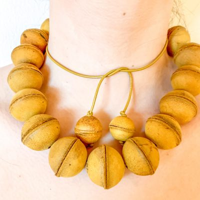 Leather Bead Adjustable Necklace
