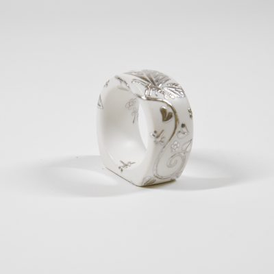 White Napkin Ring