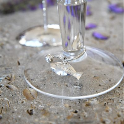 Silver Fish Wine Glass Charms (Wine Charms)